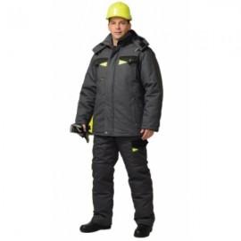 """Костюм """"ХОВАРД"""": зим. куртка дл.,брюки т.-серый с черным и лимон. отд. Тк. Rodos"""
