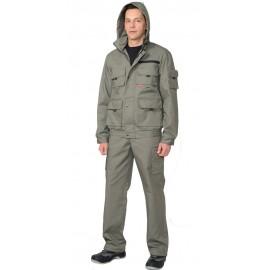 "Костюм ""Байкал"" куртка, брюки (тк. Rodos 245) оливковый"