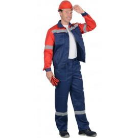 """Костюм """"ЛЕГИОНЕР"""": лето  куртка, брюки синий с красным и СОП 50 мм"""