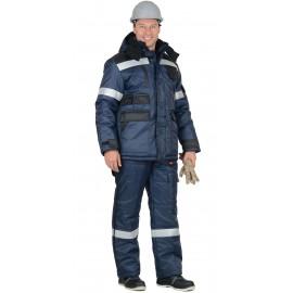 """Костюм """"БЕРКУТ"""" : куртка дл., п/комб. синий с чёрным и СОП 50 мм"""