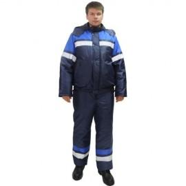 """Костюм """"ОРБИТА"""" зимний: куртка кор.,п/комб. синий с васильковым и СОП"""