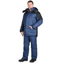 "Костюм ""Европа"" зимний: куртка, брюки синий с черным"
