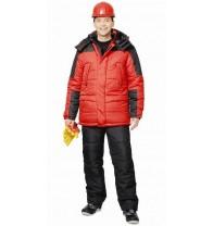 """Костюм """"Европа"""" зимний: куртка, брюки красный с черным"""
