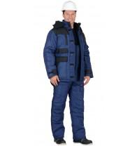 """Куртка """"Беркут"""" дл., синяя с черным и СОП 50 мм тк.Оксфорд"""