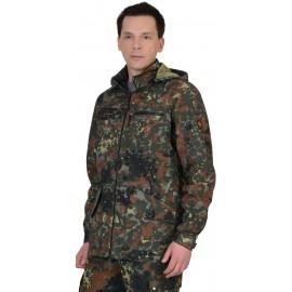 """Куртка """"Вектор"""" длинная (тк. Рип-стоп) КМФ Флектарн"""