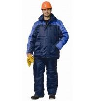 """Костюм """"БАЛТИКА"""": куртка дл., п/комб. тёмно-синий с васильковым"""