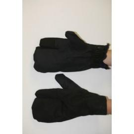Рукавицы утеплённые армейские трехпалые (натуральный мех, кроме указ.пальца-байка)