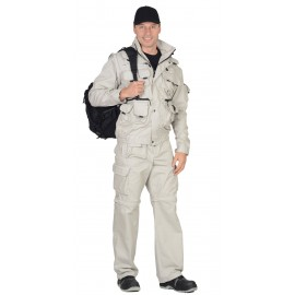 "Костюм ""Тигр"" куртка, брюки (тк. Rodos 245) Молочный"