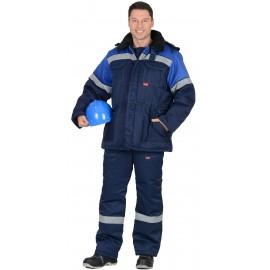 """Костюм """"ЛЕГИОНЕР 50"""": куртка , п/к., темно-синий с васильковым с СОП 50мм."""