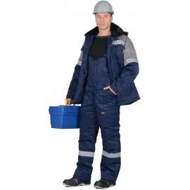 """Костюм """"ЛЕГИОНЕР 50"""": куртка , п/к., темно-синий с серым с СОП 50мм."""