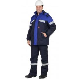 """Костюм """"Сургут-С"""" зимний, куртка, п/к, т .син. с васильковым и СОП 50мм."""