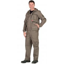"Костюм ""Канвас"" летний: куртка кор., брюки ткань 100% х/б, КМФ Темный песок"