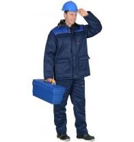 """Костюм """"Рост-Гретта"""" куртка, брюки, синий с васильковым"""