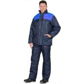 """Костюм """"Рост"""" куртка, брюки, синий  с васильковым"""