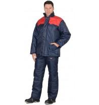 """Костюм """"Рост"""" куртка, брюки, синий  с красным"""