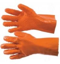 Перчатки рыбообработчика латексные оранжевые..