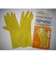 Перчатки резиновые хозяйственные..