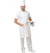 Фартук повара с грудкой (бязь) белый..