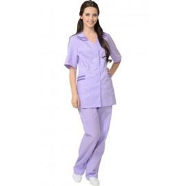 """Костюм """"ЖЕНЕВА"""" женский: куртка, брюки сиреневый с фиолетовым"""