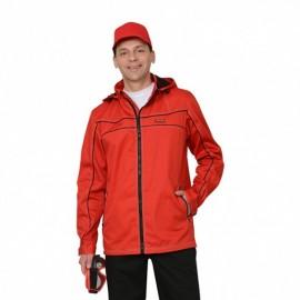 """Куртка """"Мельбурн"""" длин., летняя красная с черным кантом тк.Rodos (245 гр/кв.м)"""