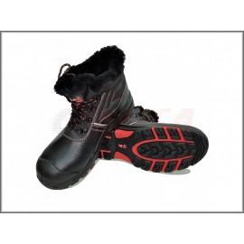 Ботинки кожаные, нат. мех, ПУ- Нитрил с  ПКП