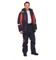 "Костюм ""Сатурн"" зимний: куртка дл.,брюки т.синий с красным и СОП 50 мм"