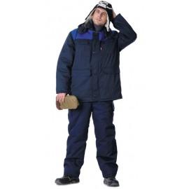 """Костюм """"ПРОФЕССИОНАЛ"""" зимний: куртка дл., брюки тёмно-синий с васильковым"""