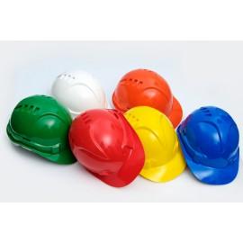 """Каска защитная """"ЕВРОПА"""" К-01 белая, желтая,  зеленая, красная, оранжевая,  синяя  – хит сезона!"""