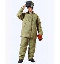 Костюм сварщика зимний: куртка, брюки брезентовый..